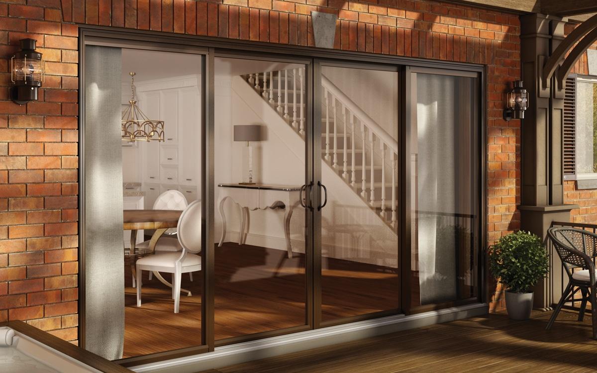 Porte patio imagine avec stores int gr s les fen tres for Porte patio dimension